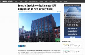 emerald-creek-provides-emmut-40m-bridge-loan-on-new-bowery-hotel