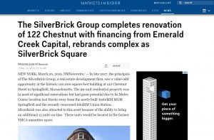 silverbrick-group-completes-renovation-of-122-chestnut-with-financing-from-emerald-creek-capital-rebrands-complex-as-silverbrick-square